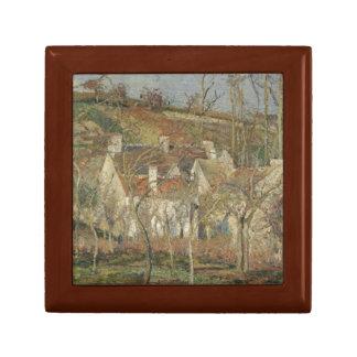 Camille Pissarro - Red Roofs, Corner of a Village Jewelry Box