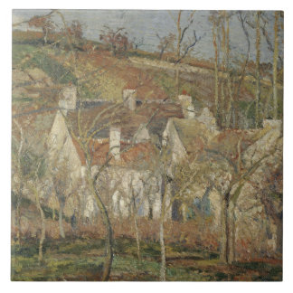 Camille Pissarro - Red Roofs, Corner of a Village Tile