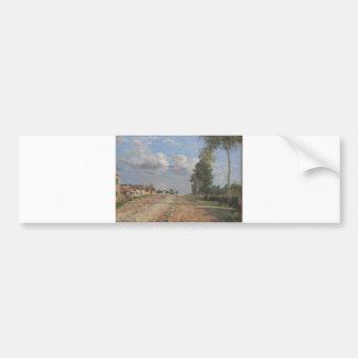 Camille Pissarro - Road to Versailles 1870 oil Car Bumper Sticker