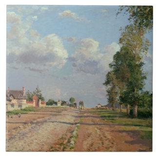 Camille Pissarro - Route de Versailles Tile