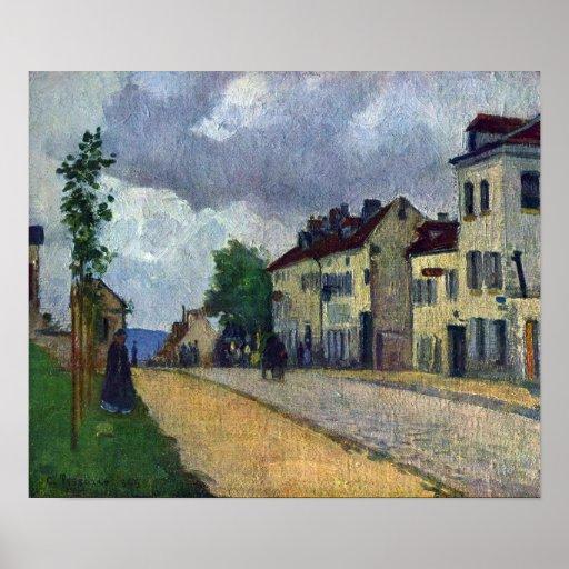 Camille Pissarro - Rue de Gisors Posters