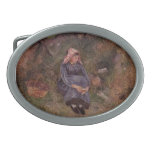 Camille Pissarro- Seated Peasant Girl Belt Buckle