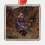 Camille Pissarro- Seated Peasant Girl Christmas Ornaments