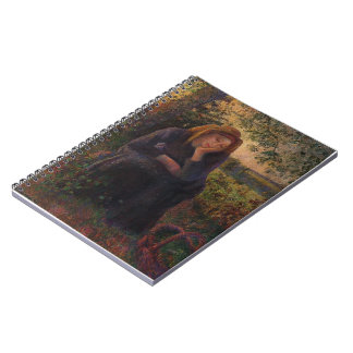 Camille Pissarro- Seated Peasant Spiral Notebook