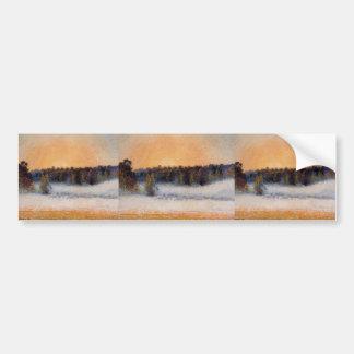 Camille Pissarro- Setting Sun and Fog, Eragny Bumper Sticker