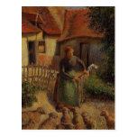 Camille Pissarro- Shepherdess Bringing in Sheep Post Card