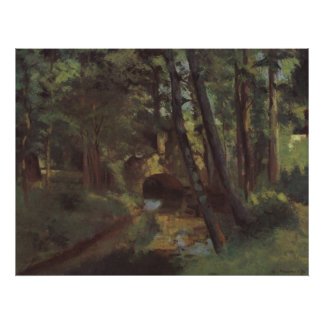 Camille Pissarro - Small Bridge of Pontoise 1875 Poster