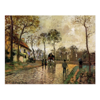 Camille Pissarro- Stagecoach to Louveciennes Postcard