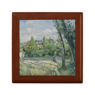 Camille Pissarro - Sunlight on the Road, Pontoise Keepsake Box