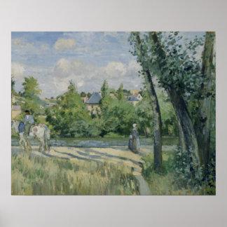Camille Pissarro - Sunlight on the Road, Pontoise Poster