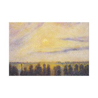 Camille Pissarro - Sunset at Eragny Canvas Print