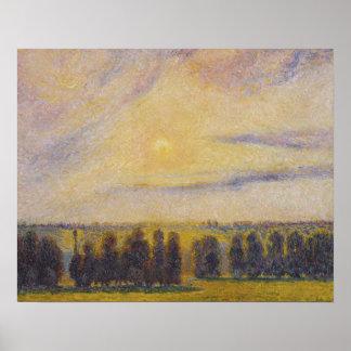 Camille Pissarro - Sunset at Eragny Poster
