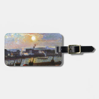 Camille Pissarro- Sunset, Rouen Travel Bag Tags