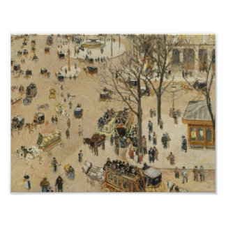 Camille Pissarro - teatro debido Francais del Póster