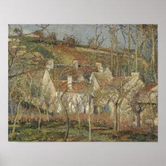 Camille Pissarro - tejados rojos, esquina de un Póster