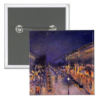 Camille Pissarro The Boulevard Montmartre At Night Pinback Button