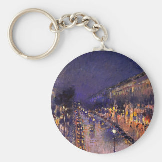 Camille Pissarro The Boulevard Montmartre At Night Keychain