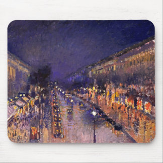 Camille Pissarro The Boulevard Montmartre At Night Mousepads