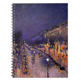 Camille Pissarro The Boulevard Montmartre At Night Notebook