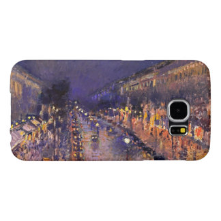 Camille Pissarro The Boulevard Montmartre At Night Samsung Galaxy S6 Case