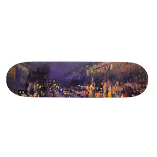 Camille Pissarro The Boulevard Montmartre At Night Skate Decks