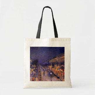 Camille Pissarro The Boulevard Montmartre At Night Tote Bag
