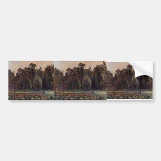 Camille Pissarro- The Cabbage Field, Pontoise Bumper Sticker