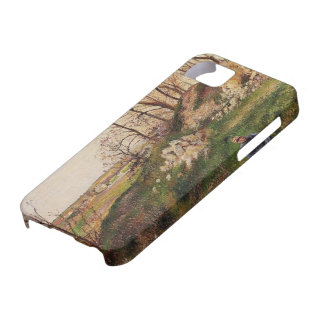 Camille Pissarro- The Chou Quarries, Pontoise iPhone 5 Covers