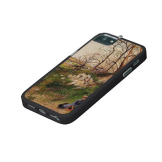 Camille Pissarro- The Chou Quarries, Pontoise Case For iPhone 5/5S