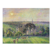 Camille Pissarro | The Church and Farm of Eragny,  Postcard