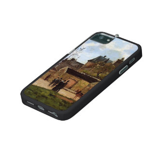 Camille Pissarro- The Court House, Pontoise iPhone 5/5S Cover