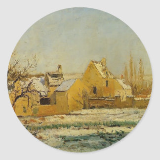 Camille Pissarro- The Effect of Snow at Hermitage Sticker