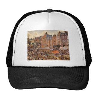 Camille Pissarro- The Fair, Dieppe Sunny Afternoon Trucker Hat