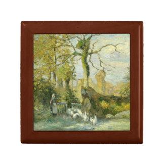 Camille Pissarro - The Goose Girl at Montfoucault Jewelry Box