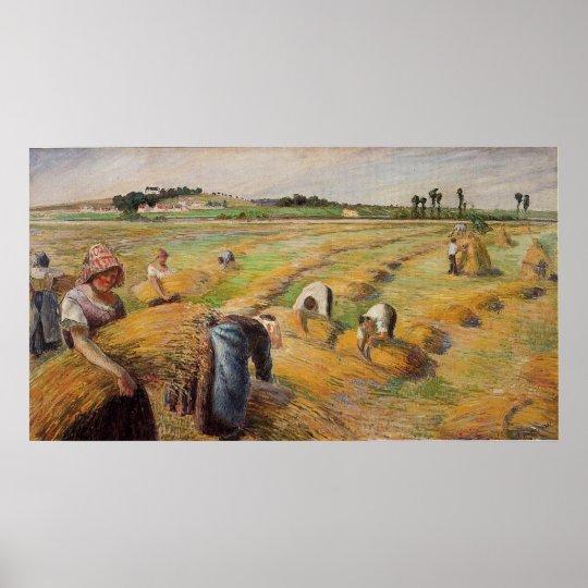 Camille Pissarro - The Harvest 1882 Oil Grain Farm Poster