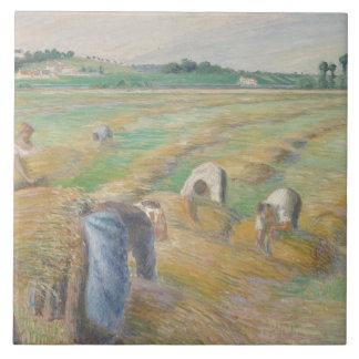 Camille Pissarro - The Harvest Ceramic Tile
