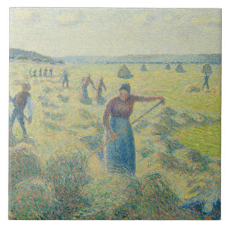 Camille Pissarro - The Harvesting of Hay, Eragny Tile