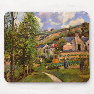 Camille Pissarro- The Hermitage at Pontoise Mouse Pad