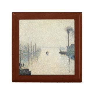 Camille Pissarro - The Island Lacroix, Rouen Jewelry Box