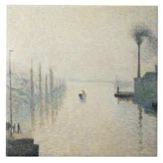 Camille Pissarro - The Island Lacroix, Rouen Tile