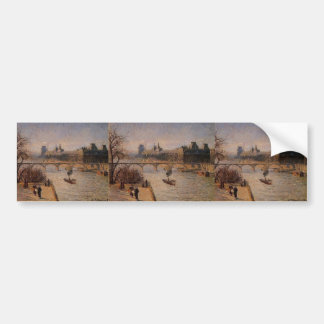 Camille Pissarro- The Louvre 2 Bumper Sticker