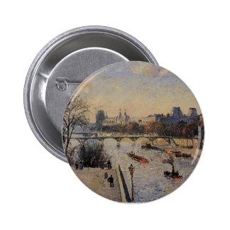 Camille Pissarro- The Louvre Pinback Button
