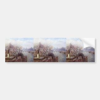 Camille Pissarro- The Louvre Morning Mist Bumper Sticker