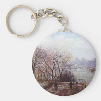 Camille Pissarro- The Louvre Morning Mist Key Chain