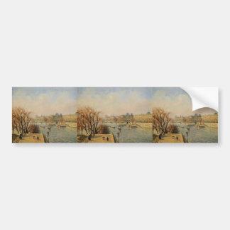 Camille Pissarro- The Louvre Morning Sun Bumper Sticker