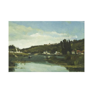 Camille Pissarro - The Marne at Chennevieres Canvas Print