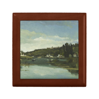 Camille Pissarro - The Marne at Chennevieres Keepsake Box