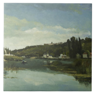 Camille Pissarro - The Marne at Chennevieres Tile