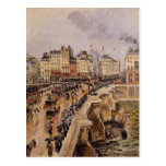 Camille Pissarro- The Pont Neuf, Rainy Afternoon Post Card