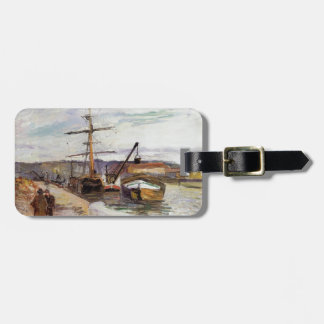 Camille Pissarro- The Port of Rouen Bag Tags